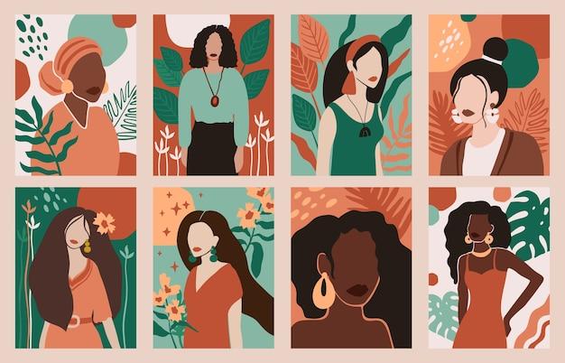 여성 초상화 선택