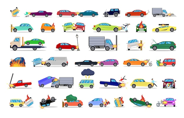 A selection of road traffic accidents
