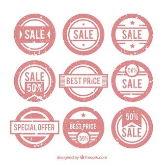 Selezione di francobolli rotondi con offerte speciali