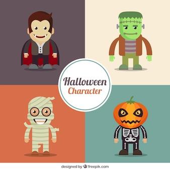 Selezione di sorridere personaggi halloween