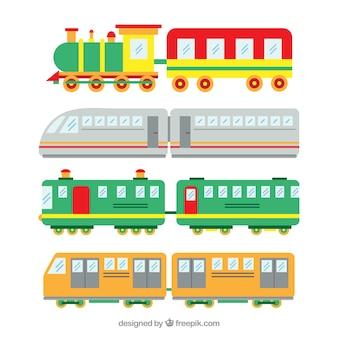 Selection of toy trains with cute designs