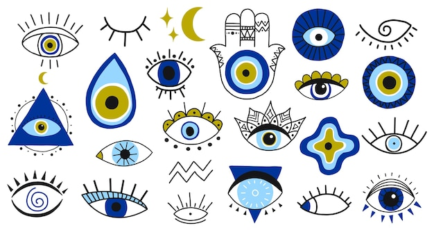 Selection of traditional eye designs