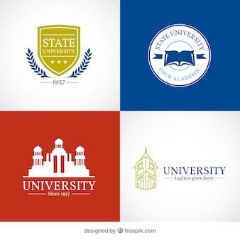 Selection of university logos