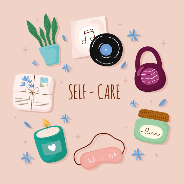 Self care icon group