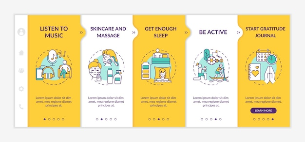 Self care practices on boarding  template.