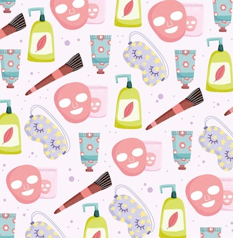 Self care and skincare pattern