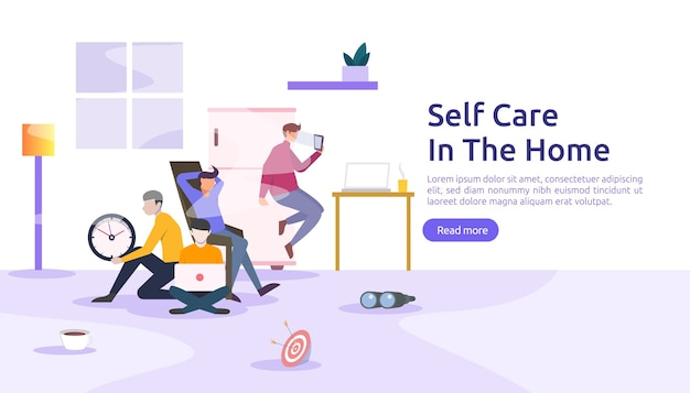 Self care and stay home concept.