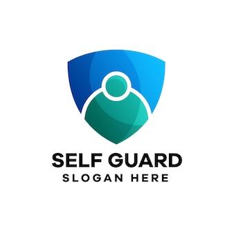 Self guard gradient logo design