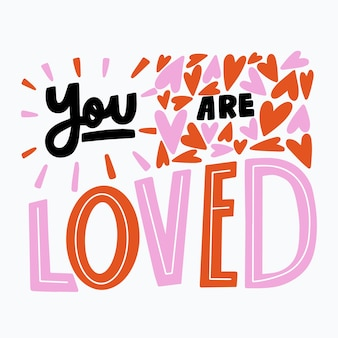 Self-love lettering message