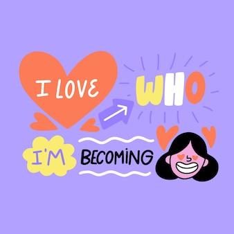Self-love lettering wallpaper