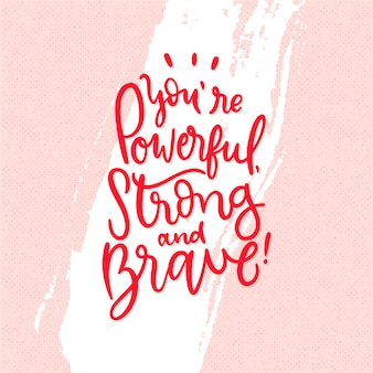 Self-love lettering with positive message
