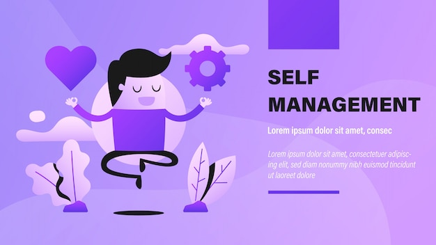 Self management banner