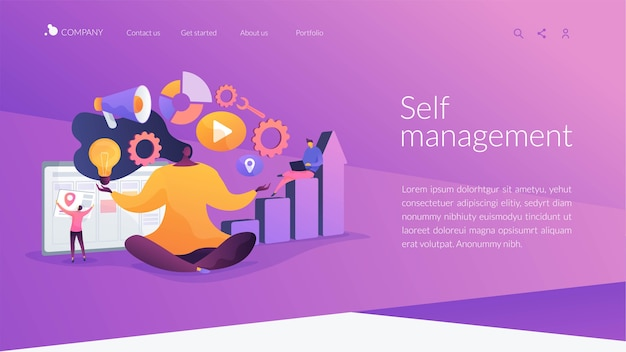 Self-management landing page template