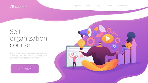 Self-organization course landing page template