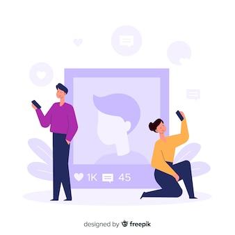 Self photo concept social application
