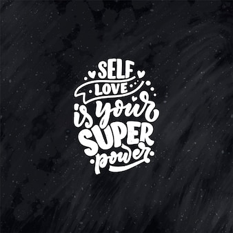 Selfcare lettering quote for blog or sale