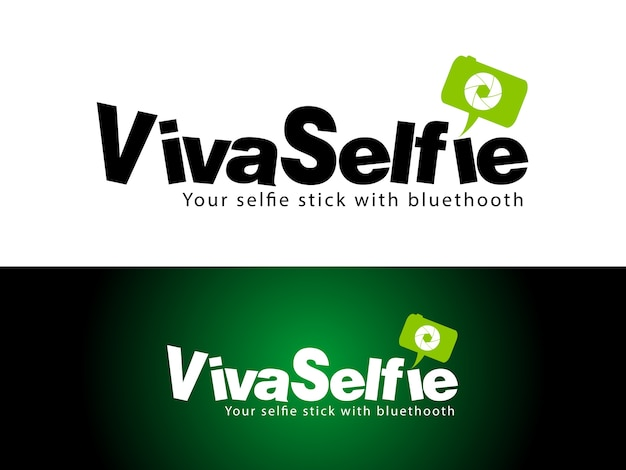 Selfie stick logo design