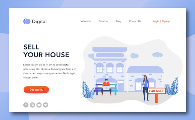 Sell your house landing page