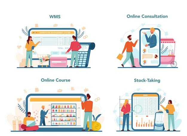 Seller online service or platform set