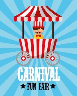 Sellerman food booth retro carnival fun fair