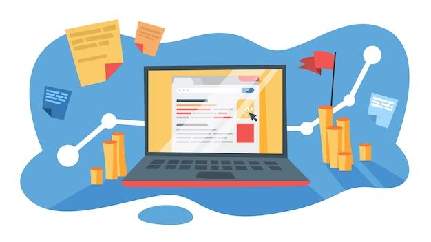인터넷에서 비즈니스 프로모션을위한 sem 검색 엔진 마케팅