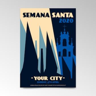 Semana santa poster template