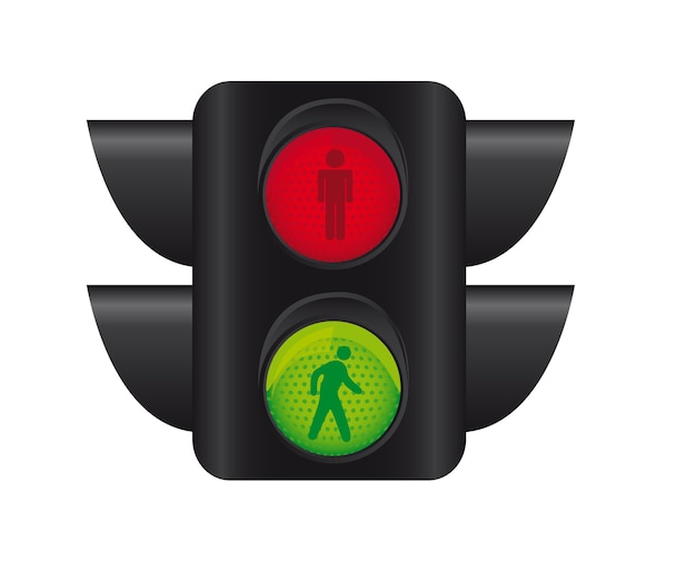 Semaphore of pedestrians isolated