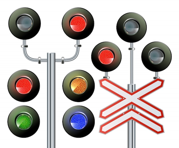 Semaphore signal traffic.train lights.