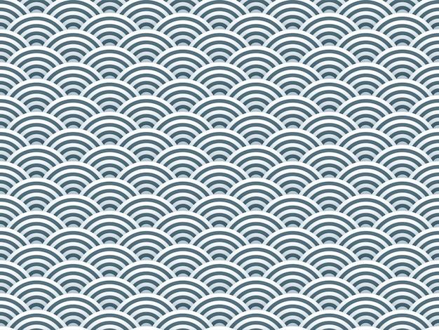Semi circles simple 3d seamless pattern