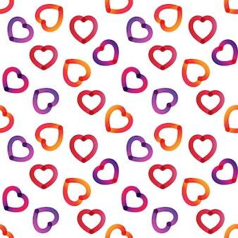 Semi flat heart seamless pattern