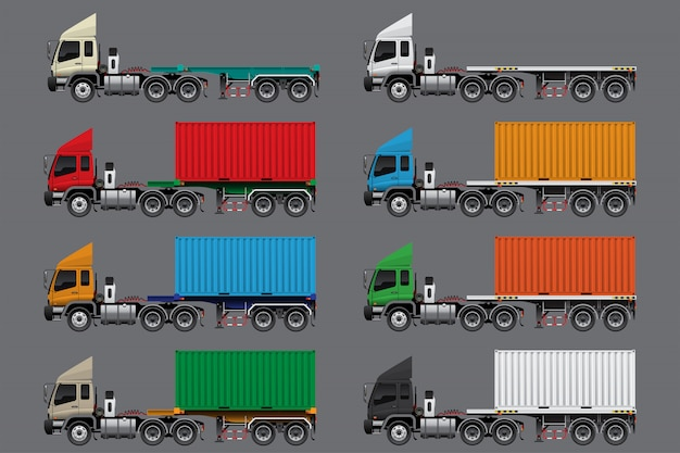 Semi trailer set