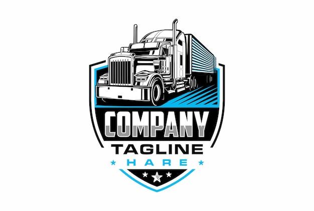 Semi trailer truck logo