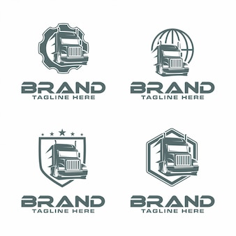 Semi truck logo