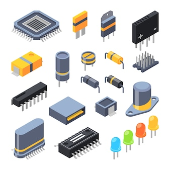 Semiconductor and electrical components for electronic parts