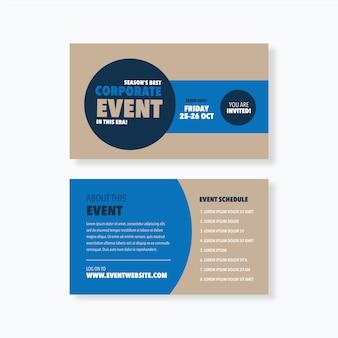 Seminar event card design
