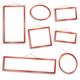 Sempty wooden  frames in different sizes