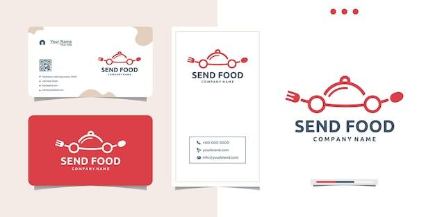 食品のロゴデザインと名刺を送る