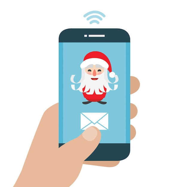 Send your letter to santa claus from your cell phone