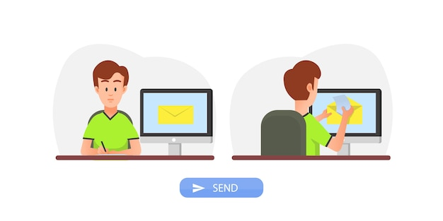 Sending electronic mail concept