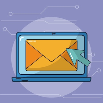 Sending email with laptop internet