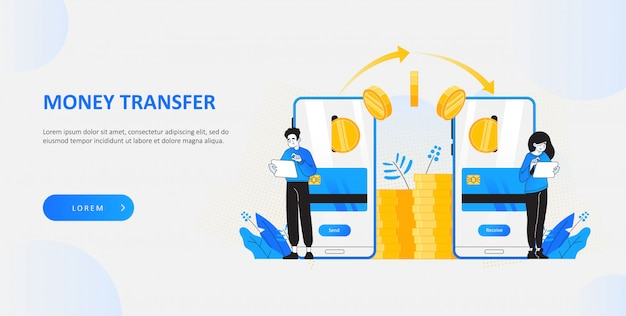 Sending money with mobile application