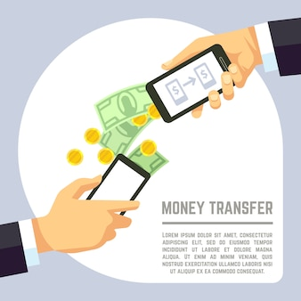 Sending and receiving money wireless with mobile phones and banking payment apps