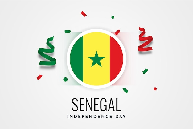 Senegal independence day celebration illustration template design
