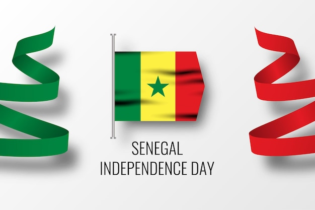 Шаблон празднования дня независимости сенегала