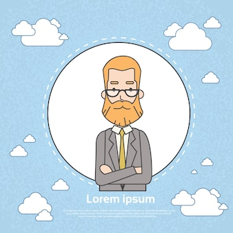 Senior businessman boss business owner profile frame