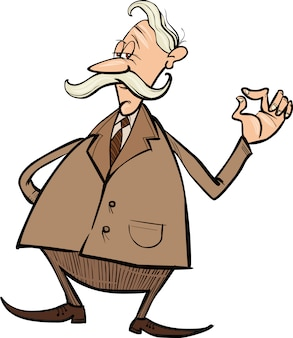 Senior businessman cartoon