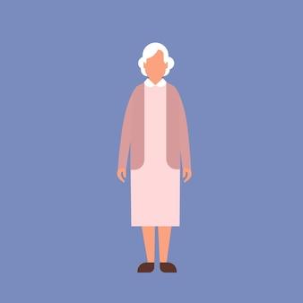 Senior lady grandmother full length granny