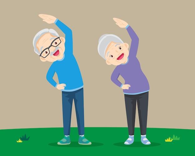 Senior people and gymnastics