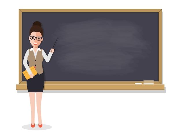 教室で生徒を教える先輩教師。