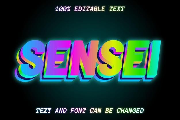 Sense editable text effect modern style
